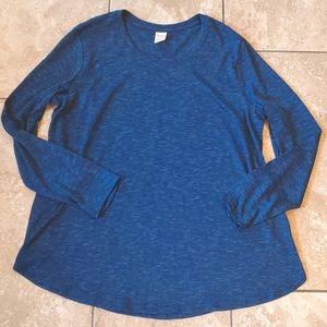 3/$12 heathered blue long sleeve tunic